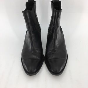 Rag And Bone Leather Ankle BootBootie Black heeled